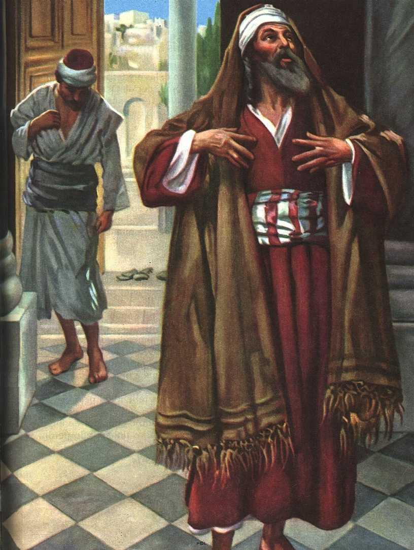 Resultado de imagem para oração do publicano e do fariseu